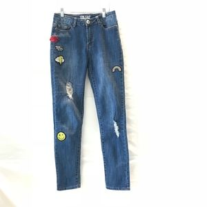 Denim - The Edit/Blue Jean/Distressed, Patches/S 1